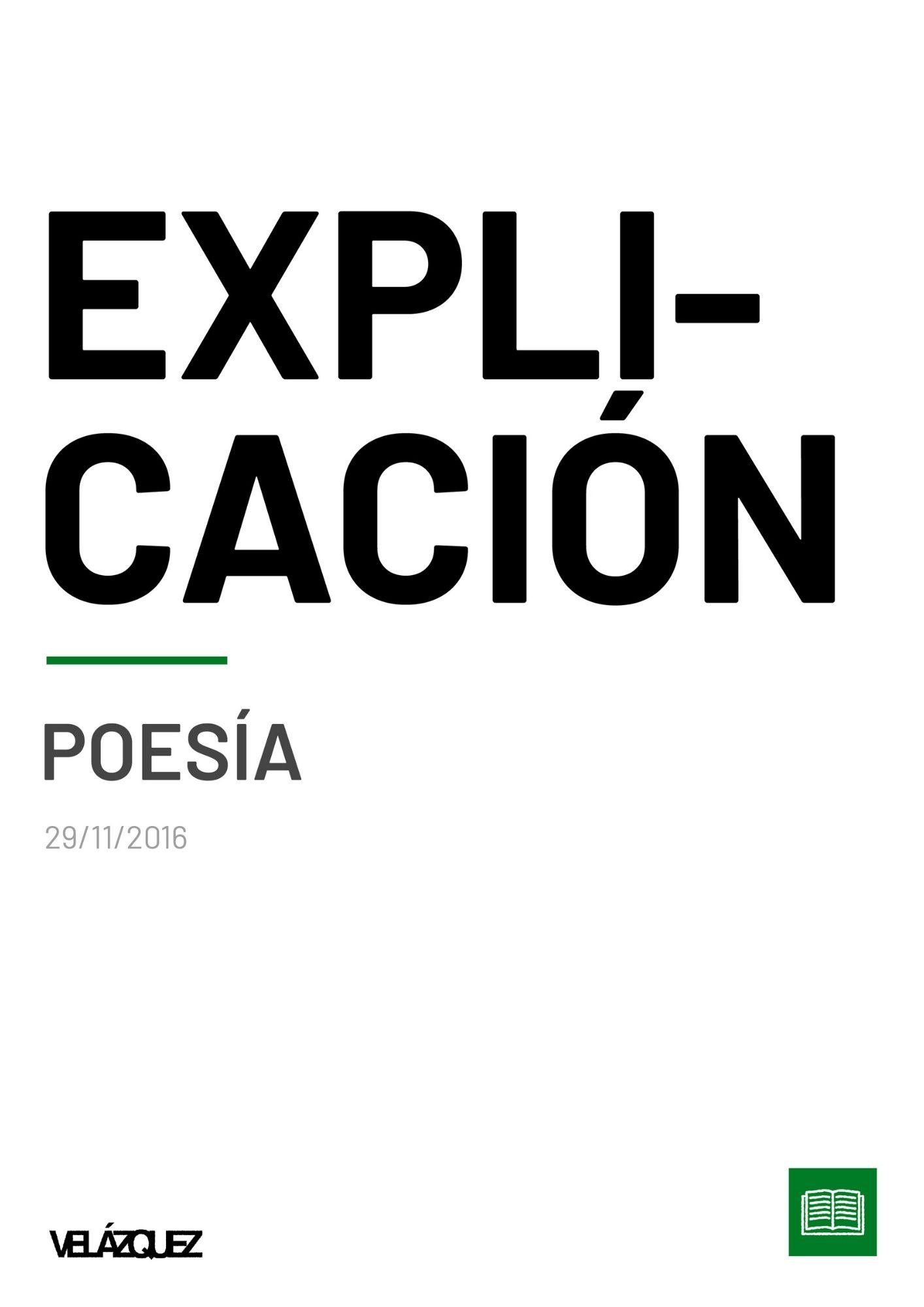Explicación - Poesía - Fabri Velázquez