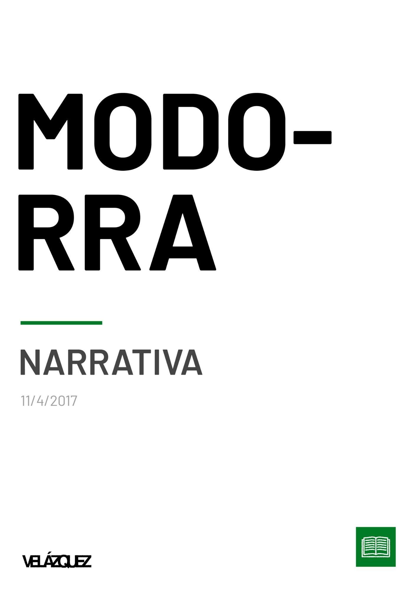 Modorra - Narrativa - Fabri Velázquez